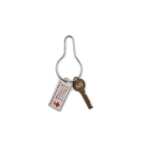 CANDY DESIGN & amp; WORKS - BLOOD TYPE KEY PLATE / AB blood type copper design keychain