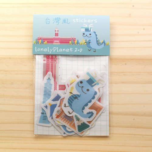 [Lonely Planet 2.0] small sticker - Taiwan air (15 in)