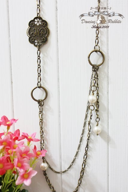 [HNL0031] ※ ※ bohemian dancing rabbit double hanging type of long chain