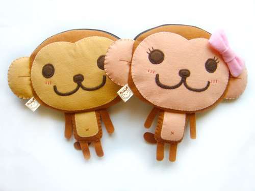 boboSARU Bobo monkey zipper bag models