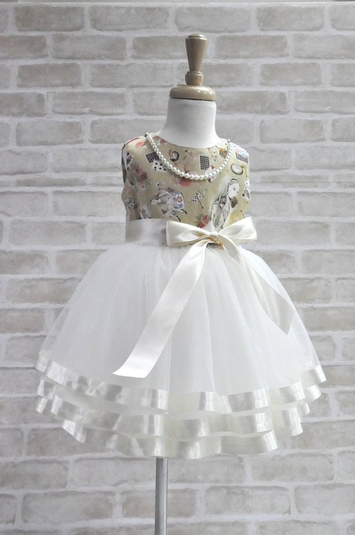 Angel Nina ordered TUTU flower girl dress birthday party concert party alice in wonderland Alice