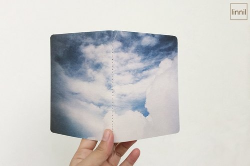 Ocean Series - the blue and white hand-notebook