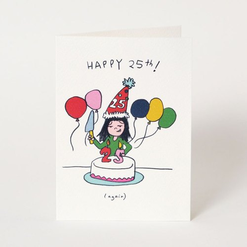 生日卡 1套4張 Birthday card set