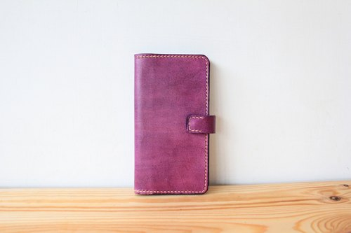 ▎Shekinah ▎ handmade leather - clamshell phone holster (iphone6 ​​size)