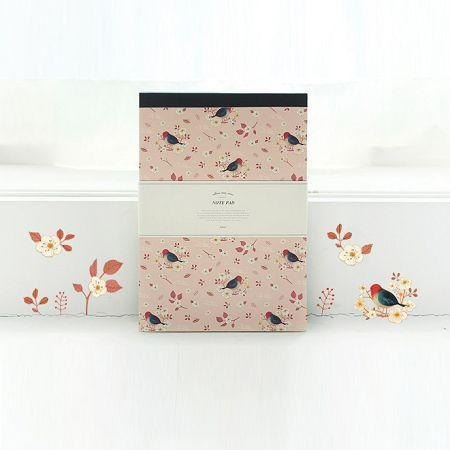 Dessin x Indigo- Wind in the Willows note paper - apricot pink, IDG01810