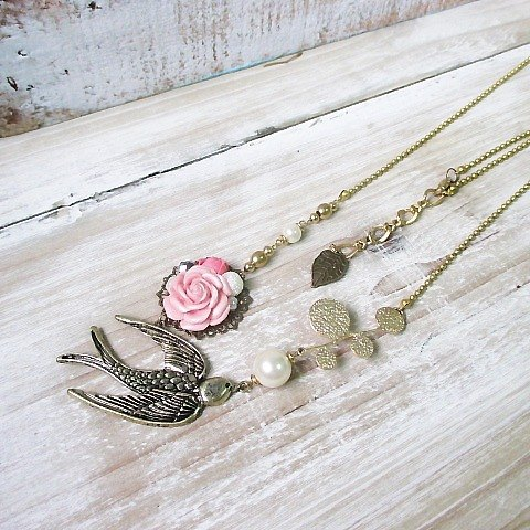 [Swallow. Fly freely in manual design long chain original copper brass