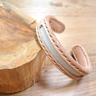 Five lucky hand-made leather _ concentric leather bracelet - copper core increase (s) - Five white