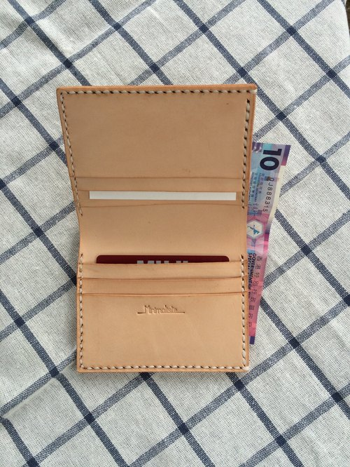 Minimalsite hand-sewn leather wallet