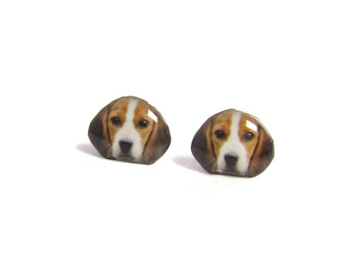 Beagle dogs ratio earrings A025ER-D02