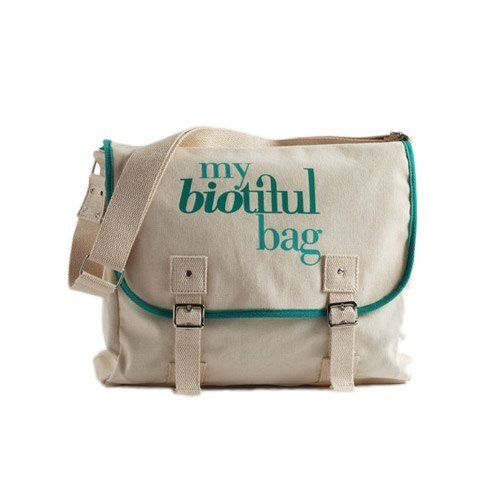 法國my biotiful bag有機棉Messenger Bag-Green