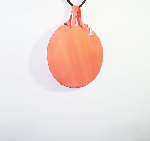 Wahr_ yellow through orange circle / shoulder bag / shopping bag