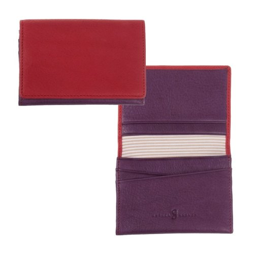 New Arrivals ● Samuel & amp; Ashley colorful purple pink leather business card holder ● 84 fold and then shipped free