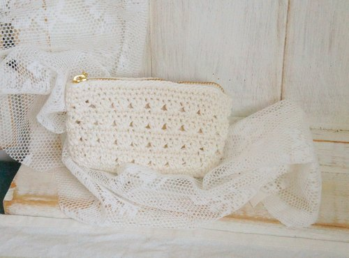 Wind knit lace Card Holder / Purse ~