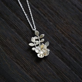 Bloom happiness flower necklace 925 silver