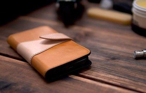 alto iPhone 5S / SE Leather Phone Case Foglia Light Brown Leather Case Leather Case