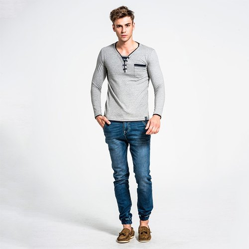 Men's prime strip color gray NOVI TEE-