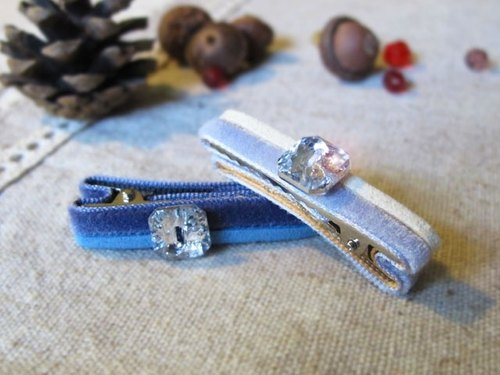 Bling Bling Baby- color flannel square diamond hairpin