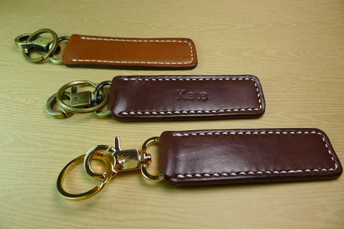 Soui leather key ring wind plant rub - can be manually knock print eight letters of the alphabet