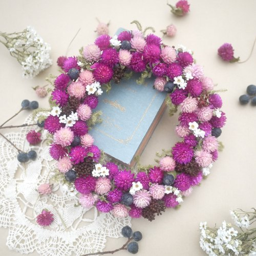 To be continued | sweetness berry wreath amaranth blueberry raspberry shooting props wall decoration gift wedding gifts arranged