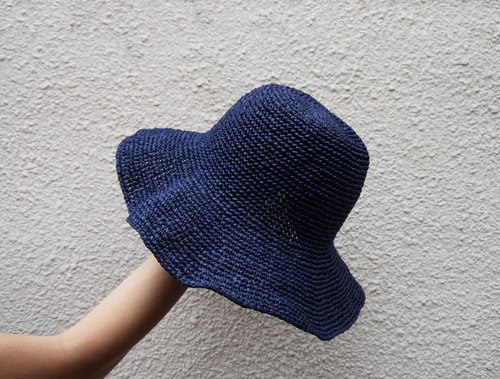 Mama の hand-made hat - Summer Zhisheng cap blue / Mother's Day