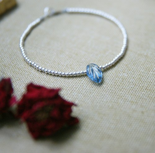 925 sterling silver bracelet fine glass ✄