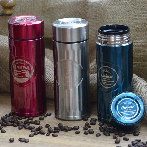 CB Qahwa third wave of cold specialty coffee mug 420ml- metallic blue (mug / cup cold)