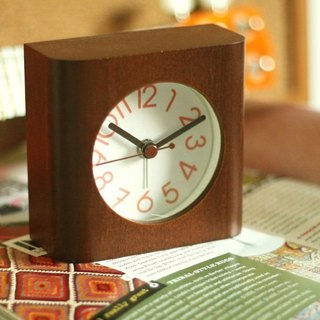 Brown love life - classic alarm clock