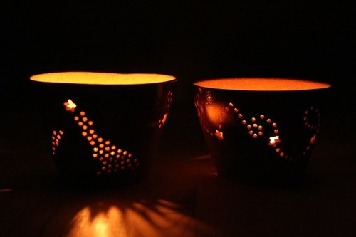 Starry sky candle holder A
