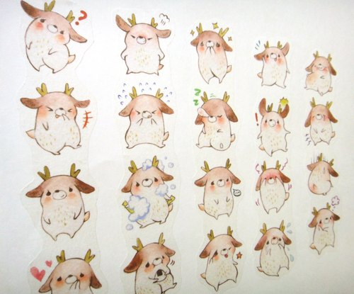 Wink deer expression deer washi tape (this is the pre-order statistics to 10/31)