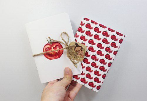 [Whoops] hate good naked na notebook painted fruits - Tomato