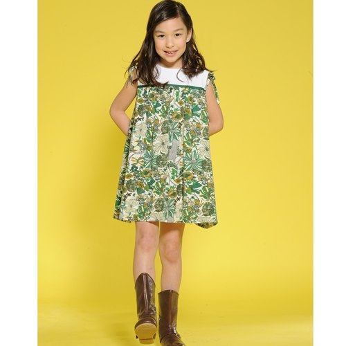 An He Ángeles decorative zipper print dress children (2 to 7 years old)