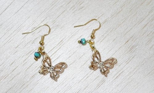 * _ * Fly butterflies alloy hook earrings