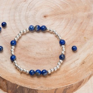 【Woody'sHandmade】青金石單層手串。Lapis lazuli Single circle