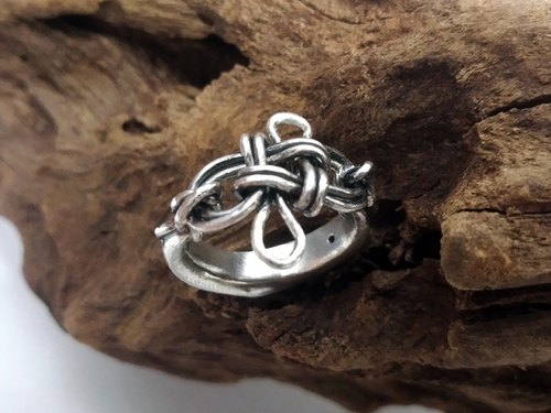 Chinese knot wind awarding Silver Ring
