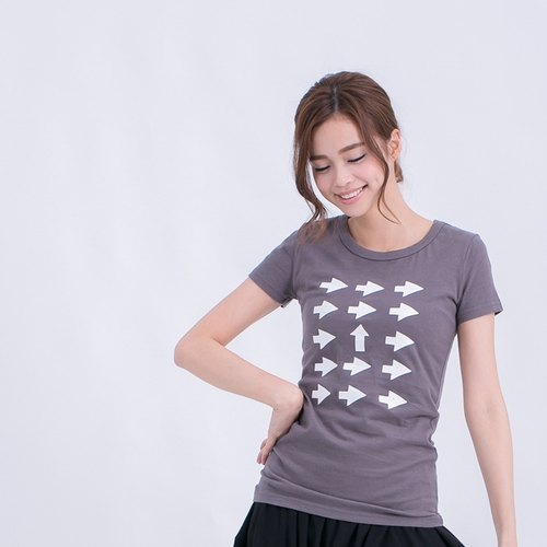 up to you peach cotton Tshirt Woman