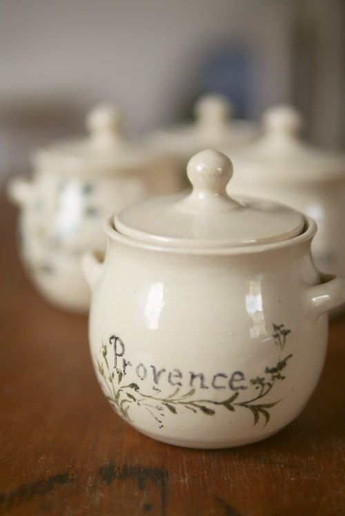 Hand-painted perfume pot {Vintage / Retro}