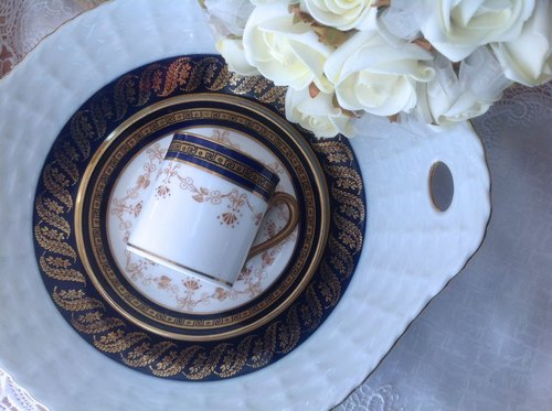 ♥ ♥ Annie crazy Antiquities Duchess 1930 年 British bone china hand-painted antique art deco antique coffee cup cup ~ birthday gifts