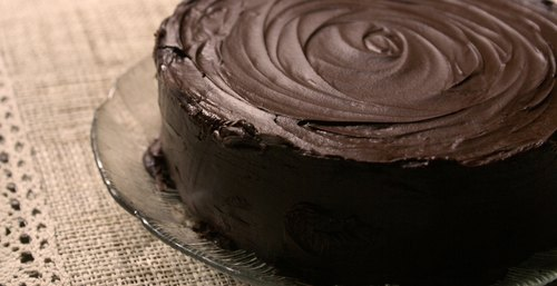[Cheese & Chocolate.] Sweet and greasy chocolate cake / 6 ""