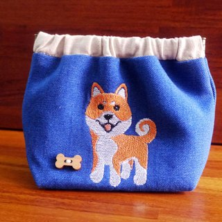 Shiba Embroidery Shrapnel Gold Storage Bag Wallet Embroidered Chinese name Please note