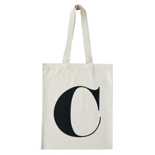 Alphabet Bags Tote letter [C] (Production UK / free shipping)