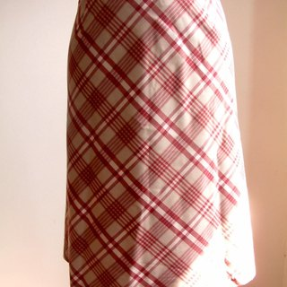 Grid pattern Skirt - red
