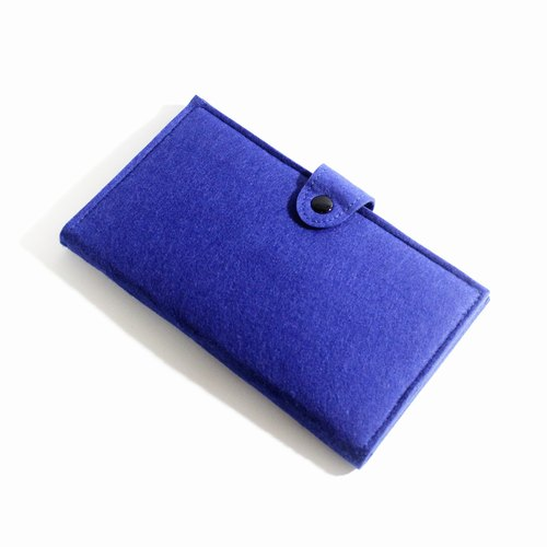 Large-capacity multi-purpose wool Zhanbao / sapphire [long clip can be felt when the sheep. Sheep blankets passport package. Felting- phone package. Wool felt purse]