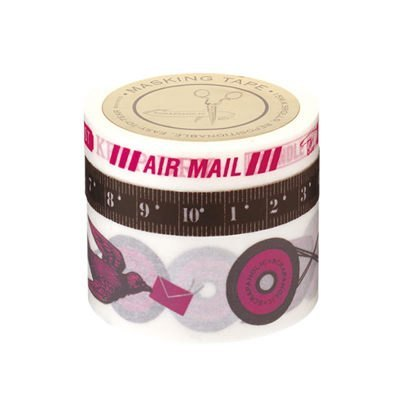Marks MT and paper tape Scrapholic clip aerogrammes - Pink (SCH-MKT11-PK)