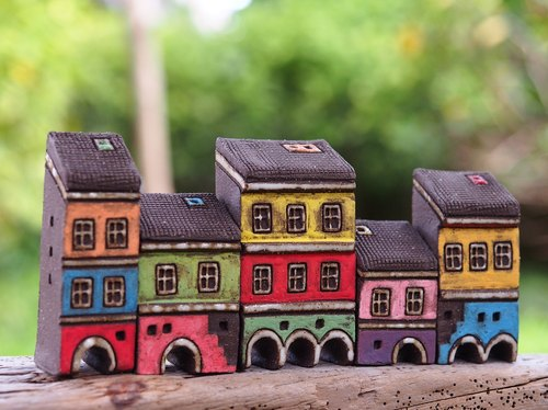 [Painting village Colorful Village] - hand-painted fairy Thao House - White Arches five sold out no longer purchase together make up