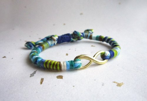 Wide lucky adventurers Unlimited rope woven bracelet (color optional)