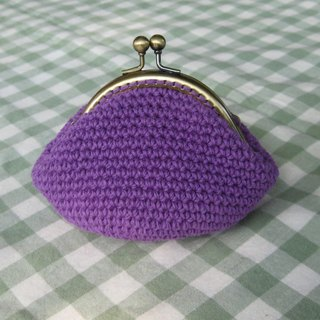 Minibobi hand-woven - bronze Qiaoqiao mouth gold bag / purse - Putao Zi