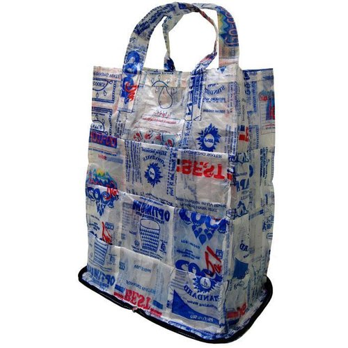 Recycling water bag foldable shopping bag _ fair trade