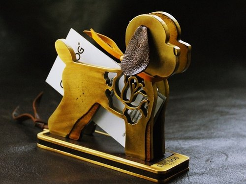 "New listing] [CHIC DOG ""limited"" metal dog styling business card holder"