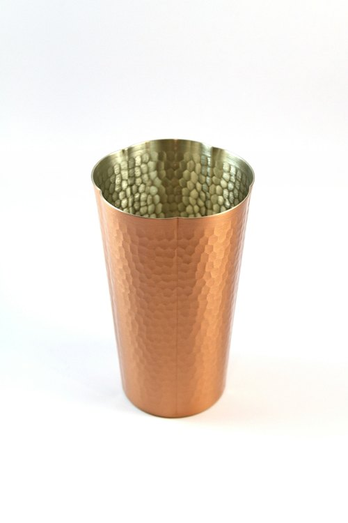 [SUSS] Japan Xinguang metal flower shape High quality handmade pure yellow cup --- Spot project Pratia free transport