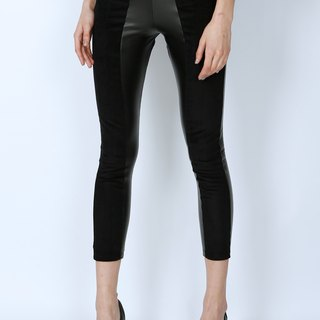 ZIZTAR Imitated Leather Zipper Pants KW15-064
